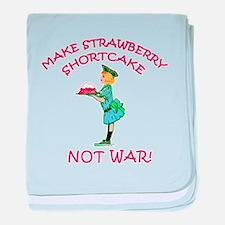 Make Shortcake Not War baby blanket