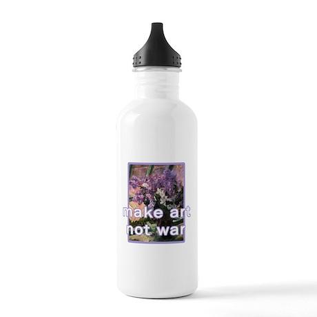 Make Art Not War Stainless Water Bottle 1.0L