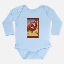 Cute Luggage Long Sleeve Infant Bodysuit