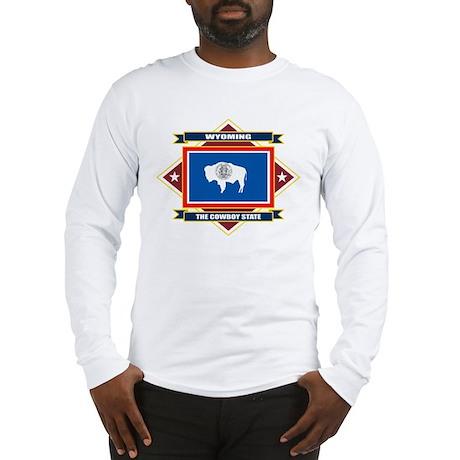 Wyoming Flag Long Sleeve T-Shirt