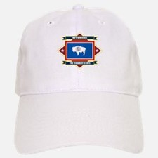 Wyoming Flag Baseball Baseball Cap