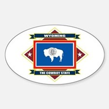 Wyoming Flag Sticker (Oval)