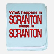 What happens in SCRANTON baby blanket