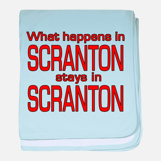 What happens in SCRANTON baby blanket