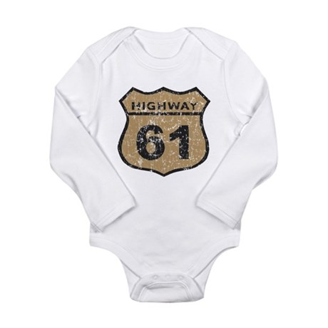 Highway 61 Distressed Long Sleeve Infant Bodysuit