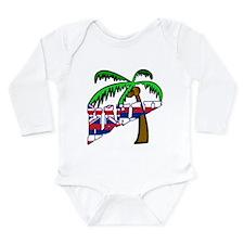 Celebrate Hawaii Long Sleeve Infant Bodysuit