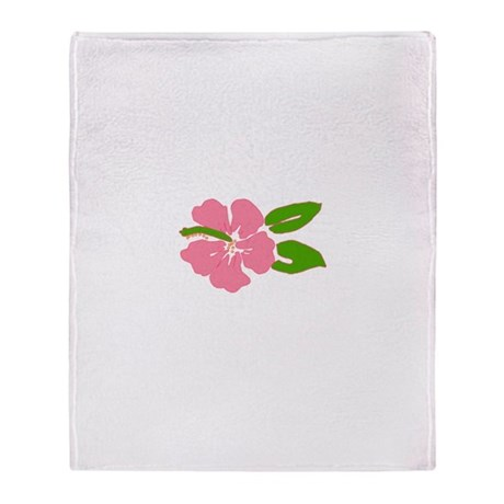 Big Beautiful Hibiscus Throw Blanket