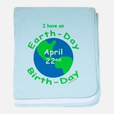 Earth Day Birthday baby blanket