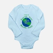 Earth Day Birthday Long Sleeve Infant Bodysuit