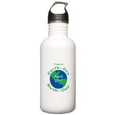 Earth Day Birthday Water Bottle