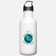 Earth Day Birthday Water Bottle