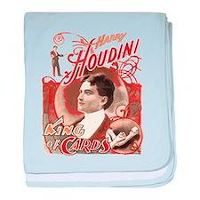 Retro Harry Houdini Poster baby blanket