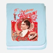 Retro Harry Houdini Poster baby blanket