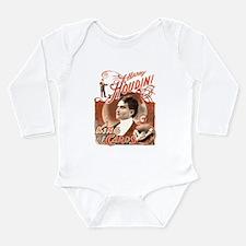 Retro Harry Houdini Poster Long Sleeve Infant Body