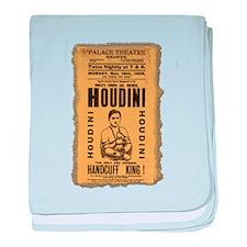 Vintage Houdini Poster baby blanket