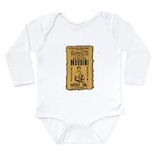 Vintage Houdini Poster Long Sleeve Infant Bodysuit