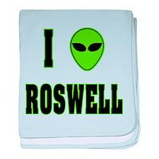 I Love Roswell baby blanket