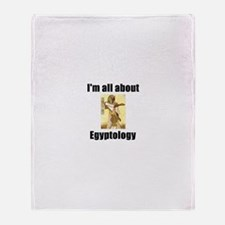 Cute I love egypt Throw Blanket