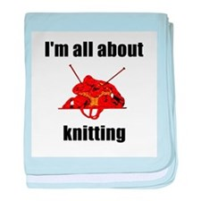 I'm All About Knitting! baby blanket