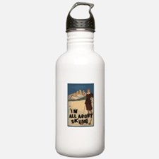 I'm All About Skiing Water Bottle