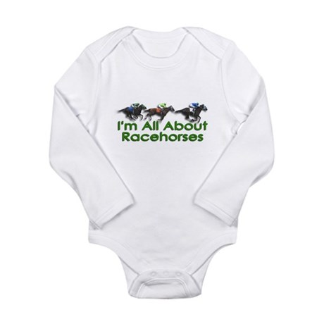 I'm All About Racehorses Long Sleeve Infant Bodysu