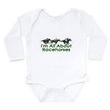 I'm All About Racehorses Long Sleeve Infant Bodysu