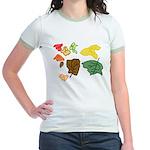 Autumn Leaves Jr. Ringer T-Shirt