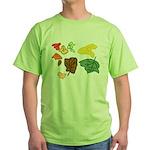 Autumn Leaves Green T-Shirt