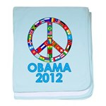 Re Elect Obama in 2012 baby blanket