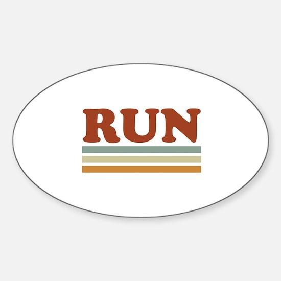 Cute Run 13.1 Sticker (Oval)