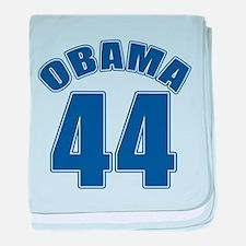 OBAMA 44 44th President baby blanket