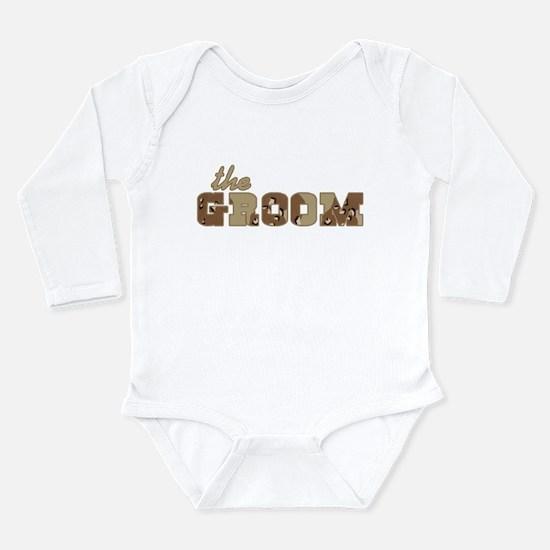 Desert Camo The Groom Long Sleeve Infant Bodysuit