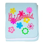 Colorful Floral Bridesmaid baby blanket