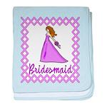 Lilac Bridesmaid baby blanket