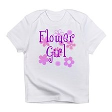 Pink and Purple Flower Girl Infant T-Shirt