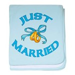 Pretty Just Married baby blanket