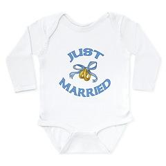 Pretty Just Married Long Sleeve Infant Bodysuit