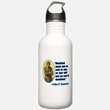 JFK Anti War Quotation Water Bottle