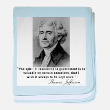 Thomas Jefferson Resistance Q baby blanket