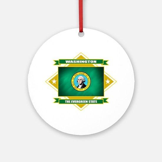 Washington Flag Ornament (Round)