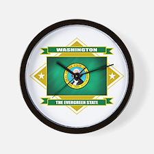 Washington Flag Wall Clock