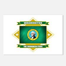 Washington Flag Postcards (Package of 8)