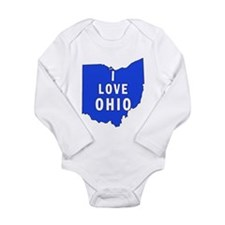 I LOVE OHIO Long Sleeve Infant Bodysuit