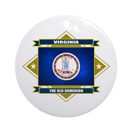 Virginia Flag Ornament (Round)