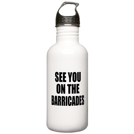 See You on the Barricades Stainless Water Bottle 1