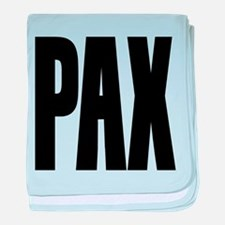 PAX Latin for Peace baby blanket