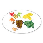 Autumn Leaves Sticker (Oval)