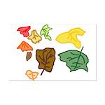 Autumn Leaves Mini Poster Print