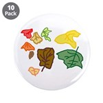 """Autumn Leaves 3.5"""" Button (10 pack)"""