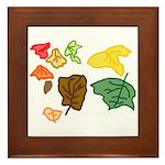 Autumn Leaves Framed Tile